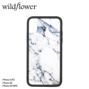 wildflower ワイルドフラワー iPhone XR X XS MAX レディース マーブル グレー MARB [11/11 新入荷]