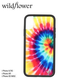wildflower ワイルドフラワー iPhone XR X XS MAX レディース タイダイ マルチカラー STIE [11/11 新入荷]