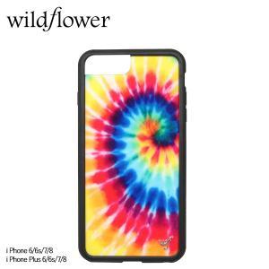 wildflower ワイルドフラワー iPhone 8 7 6 6s Plus レディース タイダイ マルチカラー STIE [11/11 新入荷]