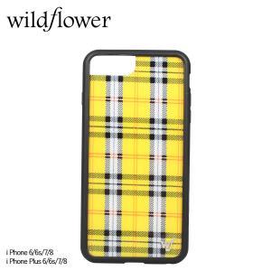 wildflower ワイルドフラワー iPhone 8 7 6 6s Plus レディース チェック イエロー YPLA [11/11 新入荷]