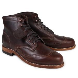 ウルヴァリン WOLVERINE メンズ 1000マイル ブーツ ADDISON 1000MILE WINGTIP BOOT Dワイズ W05342 ブラウン ウィングチップ ワークブーツ