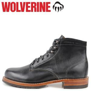 ウルヴァリン WOLVERINE 1000マイルブーツ メンズ 1000MILE BOOT EVANS Dワイズ ブラック 黒 W40048 [予約商品 10/31頃入荷予定 新入荷]