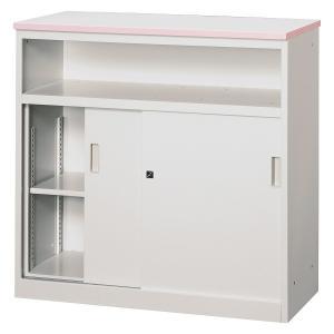 中棚付ハイカウンター 受付カウンター テーブル 収納 オフィス用家具 W900×D450×H890mm CVA-9HST|sugihara