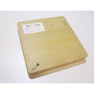 <新品>青森ひば 抗菌まな板(一枚板)識別CP-31 人気の正方形タイプです|sugimoku