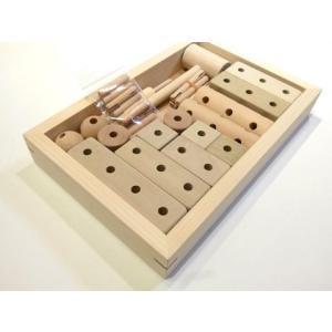 組み木の知育玩具(お試しセット)くみ木玩具 ほおの木使用 安心の無塗装・無着色|sugimoku