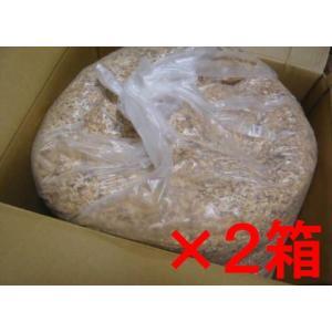 【2箱です】木質チップ おがくず 約2.5Kg(木材加工時の削り屑・容積約30リットル・重量2.5kg(ダンボール入れて)オガクズ(2箱です)※災害時トイレ用にも|sugimoku