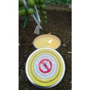 シトロネラの香りの、ペンキ缶入りキャンドル(ロウソク)です。   キャンドルを持って、お庭に山に海に...