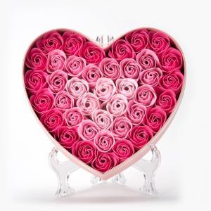 入浴剤 花 母の日 プレゼント 可愛い ハート ボックス ピンク ギフト 詰め合わせ バラ おしゃれ...