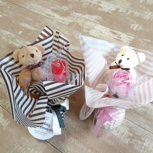 母の日 花 プレゼント 入浴剤 可愛い ぬいぐるみ バラ スタンディングブーケ ギフト セット おし...