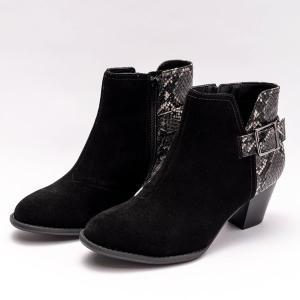 Vionic ブーツ レディース  バイオニック NAOMI SNAKE BLACK ナオミ スネイク ブラック 靴 O脚 矯正 シューズ ショートブーツ sugita-band
