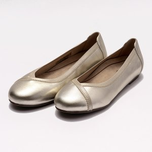 Vionic シューズ レディース CAROLL シャンパンゴールド バイオニック キャロル CHPGN 靴 O脚 矯正 バレエシューズ フラットシューズ 履きやすい 歩きやすい sugita-band