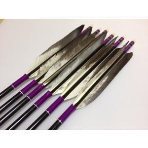 花白鳥 ジュラルミン矢6本セット 紫糸 黒シャフト|sugiyama-kyuguten
