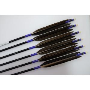黒鷲 ジュラルミン矢6本セット 青糸 黒シャフト|sugiyama-kyuguten