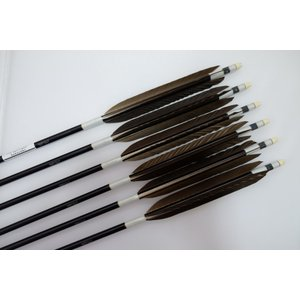黒鷲 ジュラルミン矢6本セット 白糸 黒シャフト|sugiyama-kyuguten