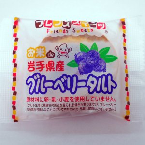 お米de岩手県産 ブルーベリータルト 1個(25g)|sugiyamagokisoal