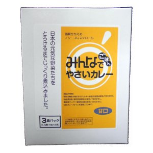 みんなでごはん やさいカレー(甘口)(3食パック) 170gx3袋 sugiyamagokisoal