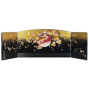 ひな人形 ひな道具 単品 部品 売り 三曲屏風 金彩 桜と月 110838 suiho