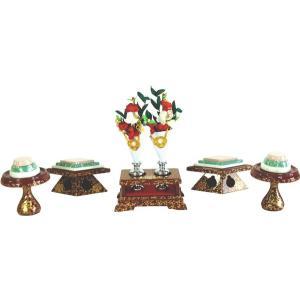 ひな人形 ひな道具 単品 部品 売り 前飾道具 三品道具 三品 赤古代 111521 suiho
