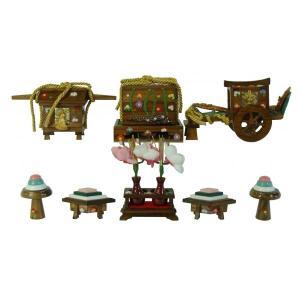 ひな人形 ひな道具 単品 部品 売り 前飾道具 六品道具 古代塗 111668 suiho