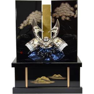 兜収納 12号 盛龍シルバー 針松蒔絵黒塗 139495|suiho