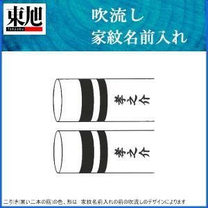 鯉のぼり 東旭鯉 家紋名前入れ 2m以下 パターン5 黒 同じ名前 両面1ヶずつ 139563908|suiho