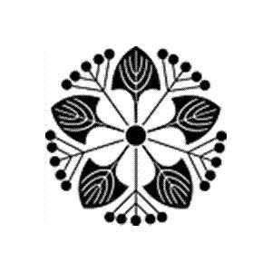 家紋 鯉のぼり 名前旗 五月人形 ひな人形用 家紋番号0001 虎杖(いたどり) いたどり いたどり 139822001