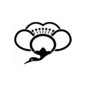 家紋 鯉のぼり 名前旗 五月人形 ひな人形用 家紋番号1440 鶴(つる) 足無し中陰梅鶴 あしなしちゅうかげうめつる 139839440 suiho