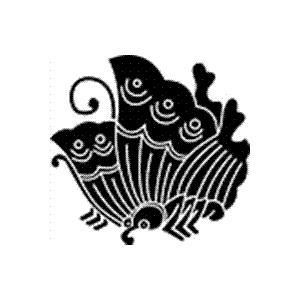 家紋 鯉のぼり 名前旗 五月人形 ひな人形用 家紋番号1913 蝶(ちょう) 揚羽蝶 あげはちょう 139839913 suiho