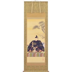 掛軸 翠峰オリジナル 天神様 尺八 義彦 京正表具 太巻 軸先九谷焼 140828 suiho