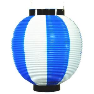 提灯 ちょうちん 赤提灯 赤ちょうちん 祭り ポリ提灯 丸提灯  八寸 ポリ提灯 二色 青/白 145878 suiho