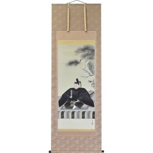 掛軸 翠峰オリジナル 天神様 尺八 京香 軸先黒檀 塗箱つき 150186 suiho