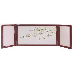 ひな人形 ひな道具 単品 部品 売り 三曲屏風 屏風 小雪 桜 265354 suiho