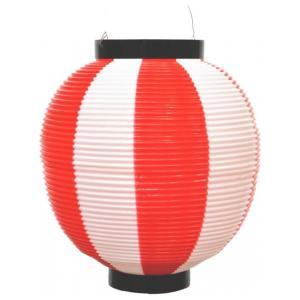 提灯 ちょうちん 赤提灯 赤ちょうちん 祭り ポリ提灯 丸提灯 八寸 ポリ提灯 二色 赤/白 500059