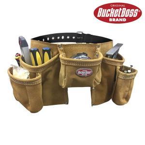 BucketBoss バケットボス スエードレザーエプロン 作業用ウエストバッグ 工具入れ 55149|suikaya9001