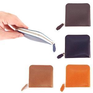 com-ono コモノ 革財布 二つ折り スリム コンパクト財布  ファスナータイプ 4色 SLIM-002|suikaya9001