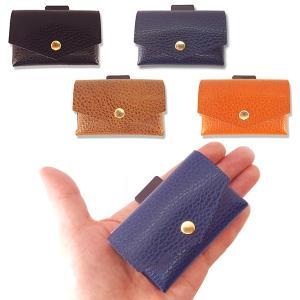 com-ono コモノ 革財布 二つ折り コンパクト財布 ミニマムウォレット 4色 TINY-001|suikaya9001