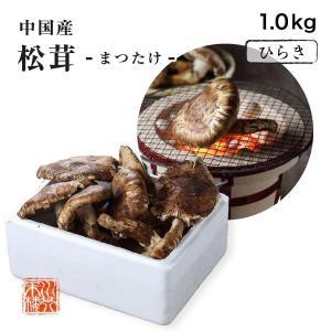 送料無料 まつたけ 松茸 中国産 訳あり 家庭用 ひらき 約1kg|suikinkarou