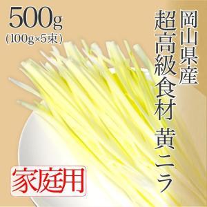 岡山県特産 超高級食材 黄ニラ ご家庭用 500g(100g×5束)