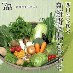 西日本産の旬の新鮮野菜詰め合わせ 7品(新鮮野菜を直送)