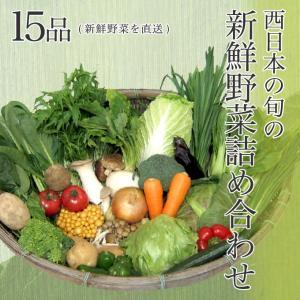 【送料無料】西日本産の旬の新鮮野菜詰め合わせ 15品 新鮮野菜を直送野菜セット 野菜詰め合わせ 新鮮野菜 旬の野菜 季節の野菜 やさい 詰め合わせ セット お取り|suikinkarou