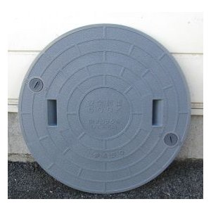 450 浄化槽マンホール(蓋) グレー|suisainet