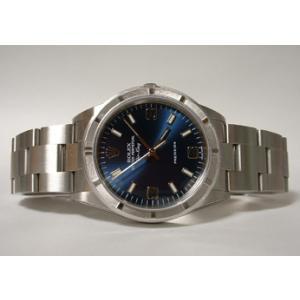 ROLEX ロレックス エアキング 14010M ブルー36...