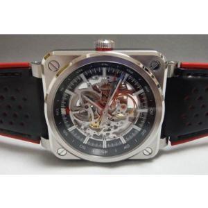 BELL&ROSS ベル&ロス BR03-92 AERO-GT 世界500本限定 赤×黒カーフレザー BR03-92|suisho
