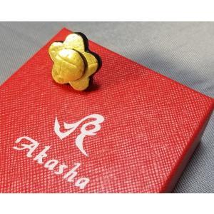 Boutonniere クロコダイル・ブートニエール ゴールド(24金箔)コーティング ゴールド×ゴールド|suisho