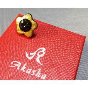 Boutonniere クロコダイル・ブートニエール 24金箔コーティング ゴールド×ブラック|suisho