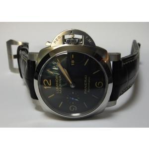 OFFICINE PANERAI パネライ ルミノール1950 3daysオートマティック アッチャイオ 44mm SS レザー PAM01312|suisho