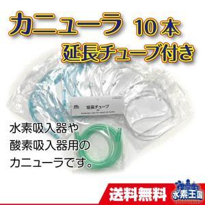 カニューラ10本セット 延長チューブ付き(やわらかい 水素用 酸素用 カニューレ ソフトタイプ)|suiso-oukoku