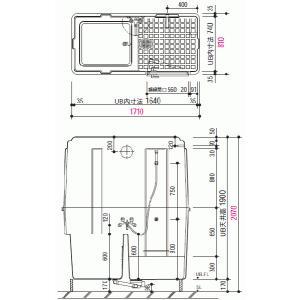 ユニットバスルーム キュービックタイプ 据置型 LIXIL・INAX BQ-0817(3)/NA|suisuimart|05