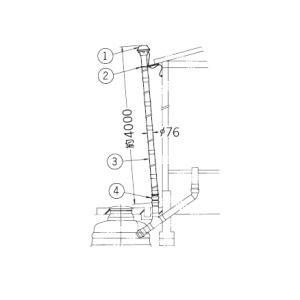 【送料込】 簡易水洗便槽用臭突管セット BT-76R|suisuimart