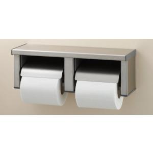 店舗や事務所、公衆スペースのおトイレにステンレス製棚付2連紙巻器 INAX CF-63HS|suisuimart